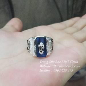 Nhẫn mỹ đá xanh NN038