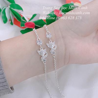 Lắc tay Hồ Ly cho nữ bạc ta LTNU151