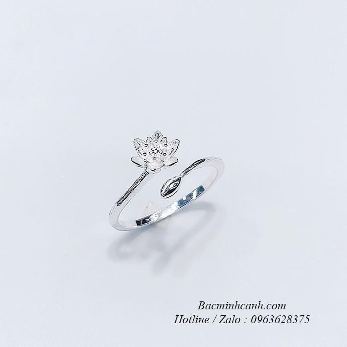 Nhẫn bạc nữ hoa mai trắng NNU079