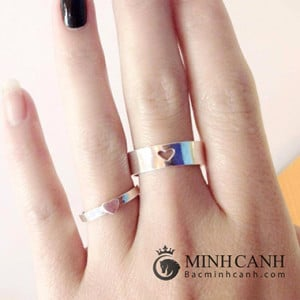 Nhẫn đôi trái tim đang yêu