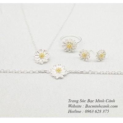 Bộ trang sức hoa cúc hoạ mi BTS001