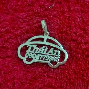Dây chuyền khắc tên hình ô tô cho bé TE067