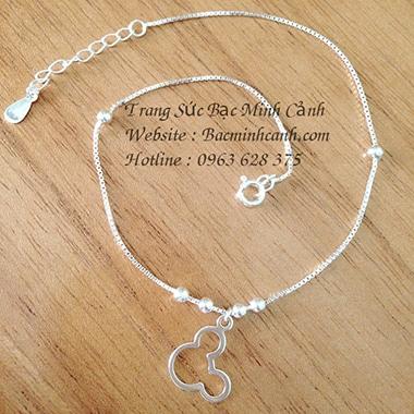 Lắc chân bạc nữ chuột mickey dễ thương LCNU040