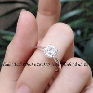 Nhẫn bạc nữ cao cấp NNU072