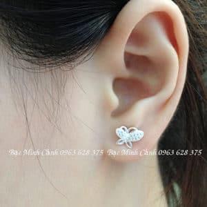 Bông tai hình bướm đính đá xinh xắn BT070