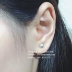 Bông tai nụ bạc dạng tròn BT082