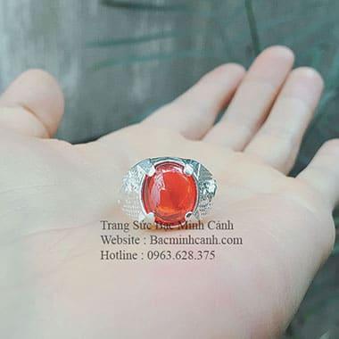 Nhẫn bạc nam cho người tay nhỏ NN042