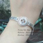Lắc tay bạc nữ hình đồng hồ LTNU105