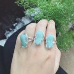 Nhẫn Tỳ Hưu đá xanh ngọc bích NNU096