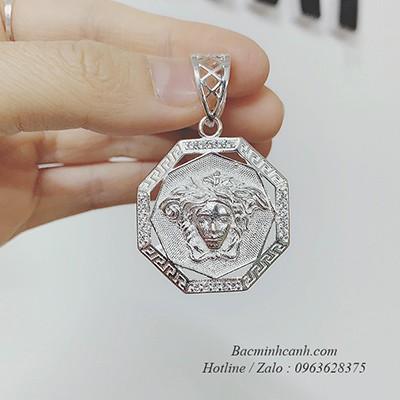 Mặt dây chuyền Versace bằng bạc MN027
