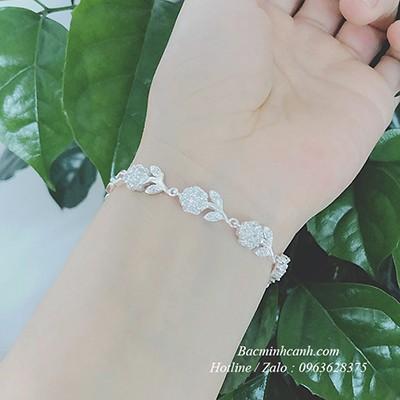 Lắc tay hoa hồng LTNU107