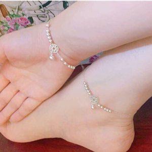 Combo lắc tay và lắc chân Kim Tiền bạc BT033
