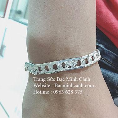 Lắc tay bạc nam họa tiết Chim Đại Đàng LTN020