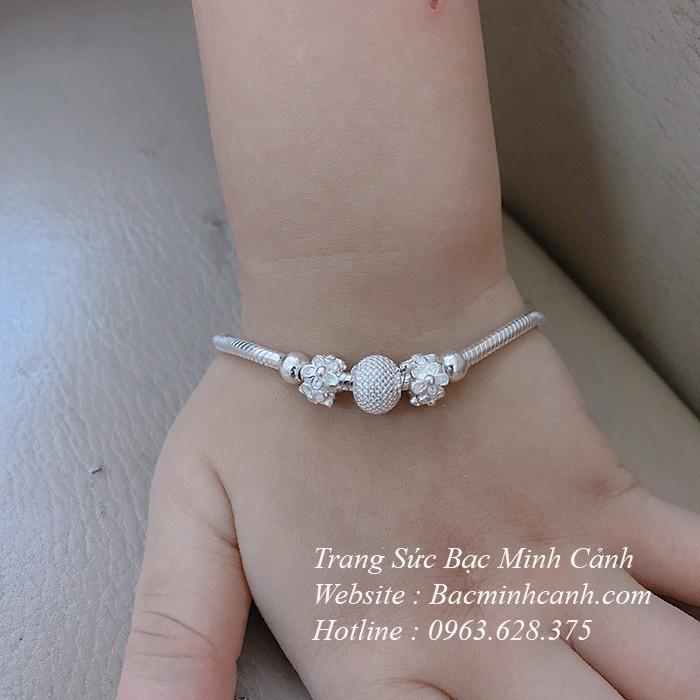 Vòng bạc Pandora cho bé TE141