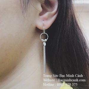 Khuyên tai dáng dài móc treo BT124