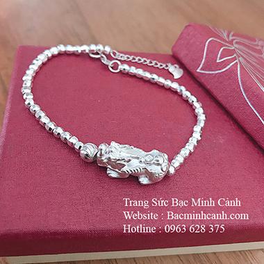 Lắc tay Tỳ Hưu bằng bạc cho nữ LTNU147