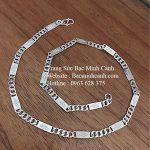 Dây chuyền bạc nam họa tiết hình thoi DCN050