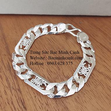Lắc tay bạc nam họa tiết Bọ Cạp LTN024