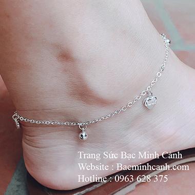 Lắc chân bi chữ love trái tim LCNU088