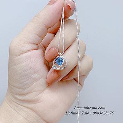 Dây chuyền bạc đại dương xanh DCNU240