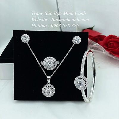 Bộ trang sức bạc 4 món BTS050