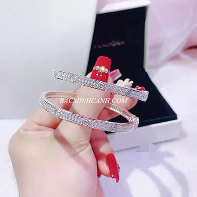Vòng tay Cartier Love bằng bạc sang chảnh LTNU170