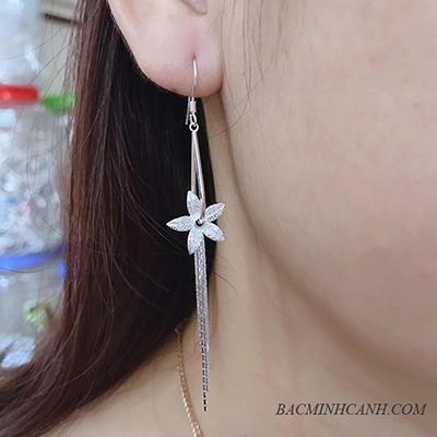Bông tai hình hoa dáng dài BT170
