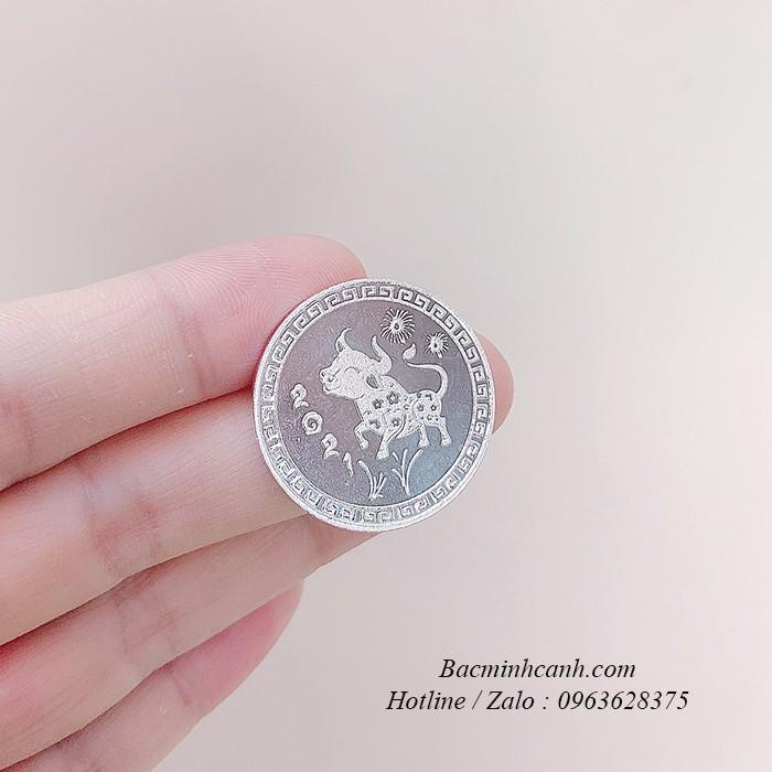 Đồng bạc đánh gió hình con trâu DX011
