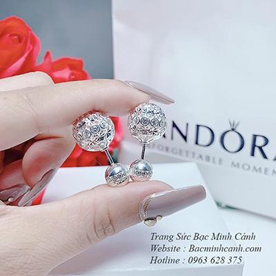 Bông tai Dior bạc đính đá BT180