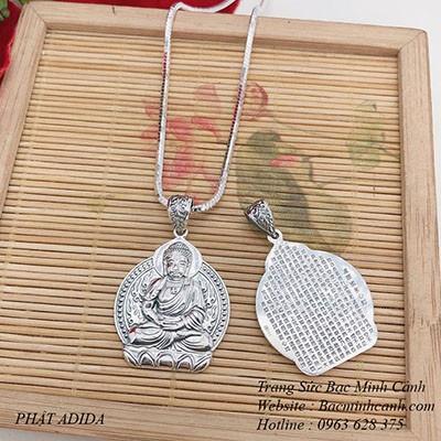 Dây chuyền Phật bản mệnh bạc thái cao cấp DCN082