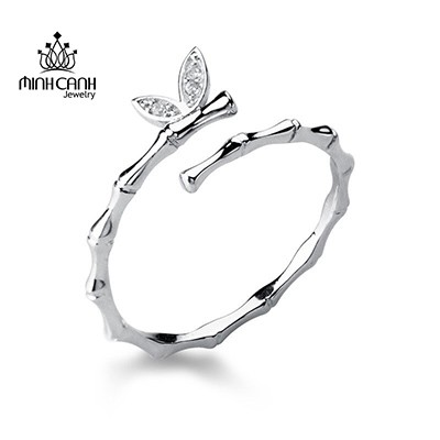 Nhẫn bạc nữ hình đốt trúc bạc 925 – NNU143