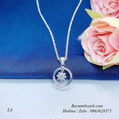 day-chuyen-bac-Flower-In-Circle-dcnu261-380x380