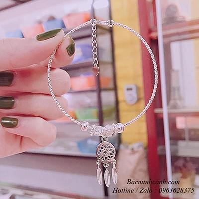 Vòng tay bạc Dreamcatcher LTNU214