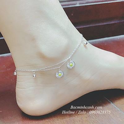 Lắc chân bạc hoa cúc Daisies khuyết cánh LCNU120