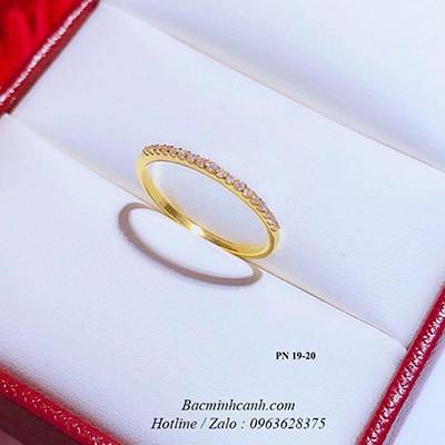 Nhẫn viền đá vàng 10k NNU155