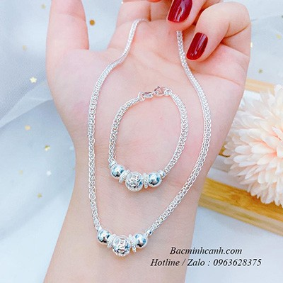 Bộ trang sức bạc trẻ em BTS090