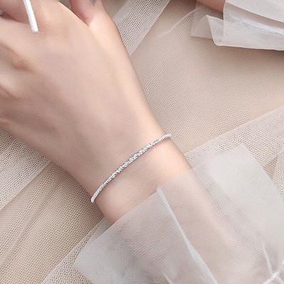 Lắc tay bạc dây xù xinh xắn LTNU251