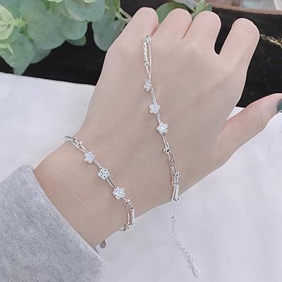 Lắc tay bạc hoa nhí BT257