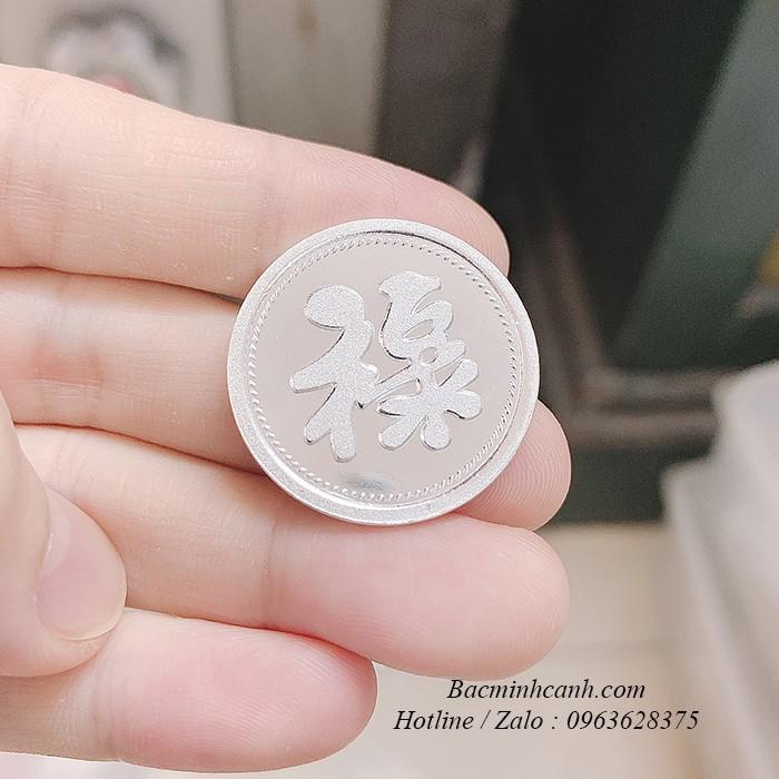 Đồng bạc đánh gió chữ Lộc DX12